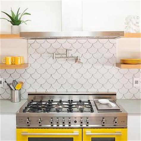 backsplash for yellow kitchen yellow and gray backsplash tiles design ideas