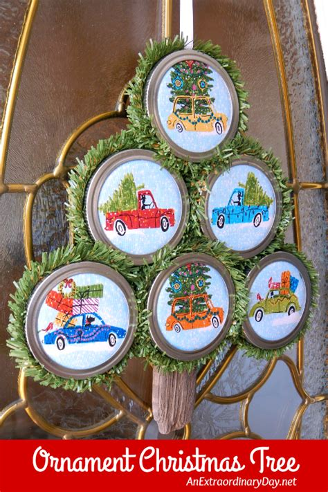 simple ornaments to make and easy to make jar lid ornaments
