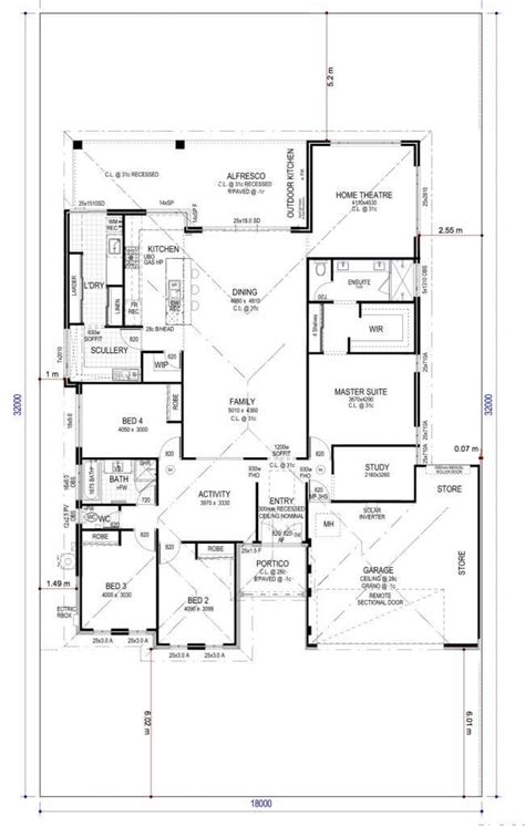 house plans with scullery kitchen floor plan friday 4 bedroom study home theatre