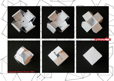 3d cube origami 3d cube puzzle cube folding a photo on