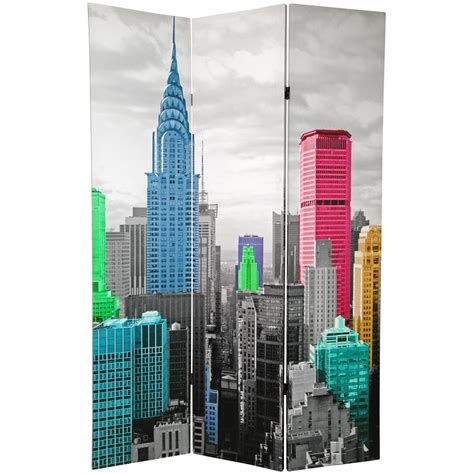 room dividers nyc 6 ft colorful new york room divider
