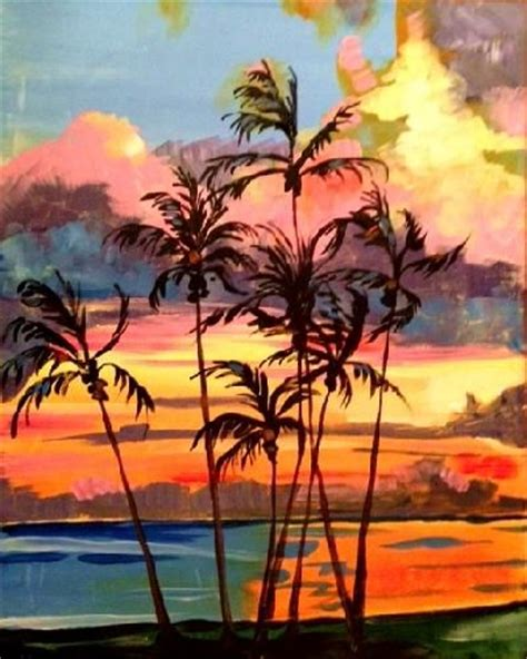 paint nite island 148 best images about palm trees on