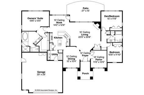 mediterranean home floor plans mediterranean house plans mendocino 30 681 associated designs