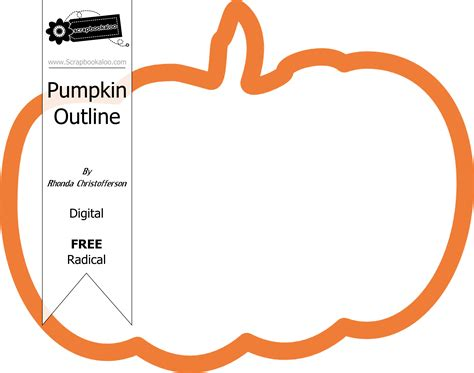pumpkin outline freebie 171 scrapbookaloo blog