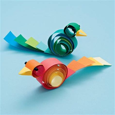 easy paper folding crafts for children curly birds paper crafts origami easy paper