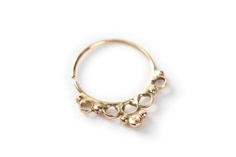 14k gold for jewelry tribal septum jewelry 14k yellow gold septum ring by studiolil