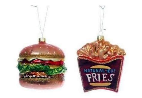 hilarious ornaments burger and fries ornament and