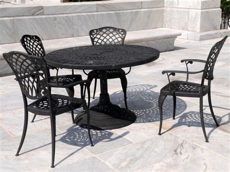 cast iron patio table cast iron patio set table chairs garden furniture