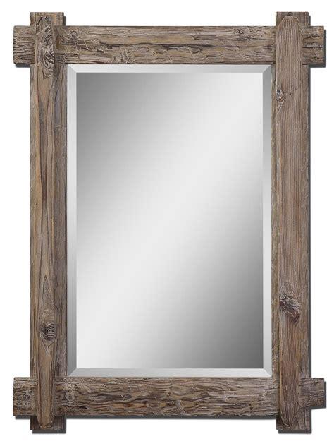 wood framed mirrors bathroom driftwood mirror frames