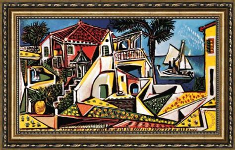 picasso painting yard sale pablo picasso mediterranean landscape framed painting for
