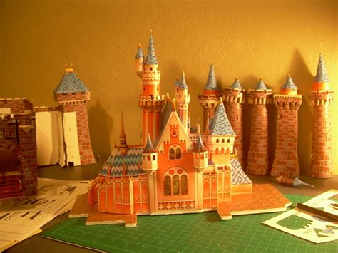 paper craft castle sleeping castle papercraft and model wip on behance