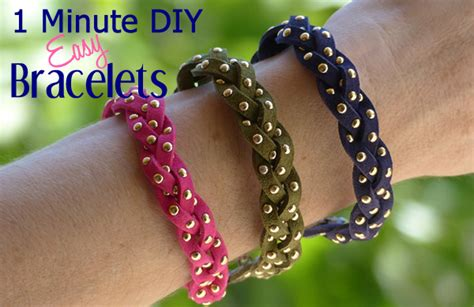 easy crafts for to make 1 minute diy crafts diy easy to make bracelets kidpep