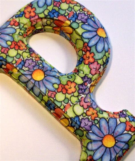 decoupage wood letters decorated wood letters decoupage floral for any initial