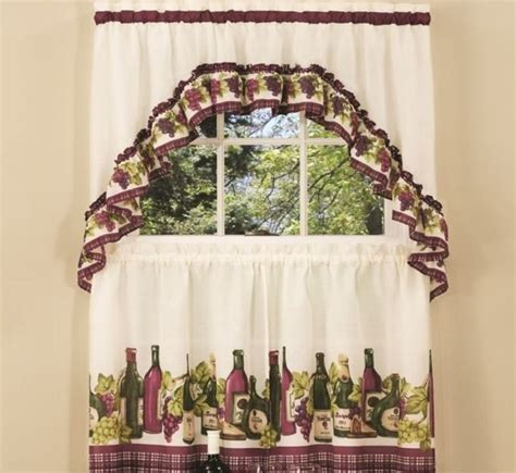 themed kitchen curtains wine themed kitchen curtains design and ideas decolover net