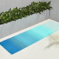 blue and green outdoor rug dusk blue green outdoor rug runner