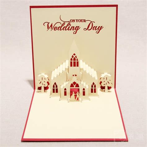 up greeting cards 3d greeting card quot the wedding day quot handmade 3d pop up