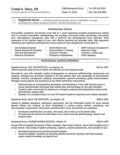 nurse resume services and rates