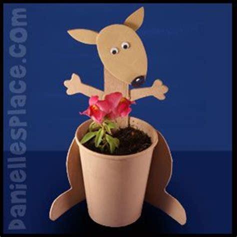 kangaroo craft for kangaroo craft kangaroos and planters on