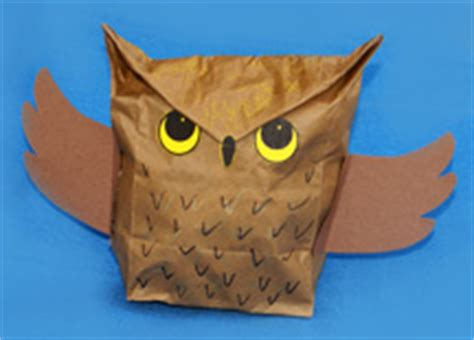 owl paper bag craft paper lunch sack craft ideas for fall 187 dollar store crafts