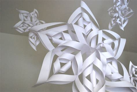 3d snowflakes paper craft uncategorized paper snowflakes 3d myideasbedroom