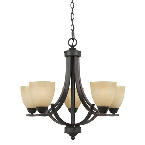filament design galeri 5 light bronze chandelier 8000 03