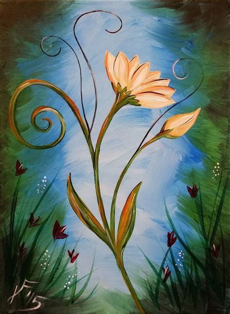 acrylic painting tutorial for beginners step by step 1000 ideas about flower painting canvas on