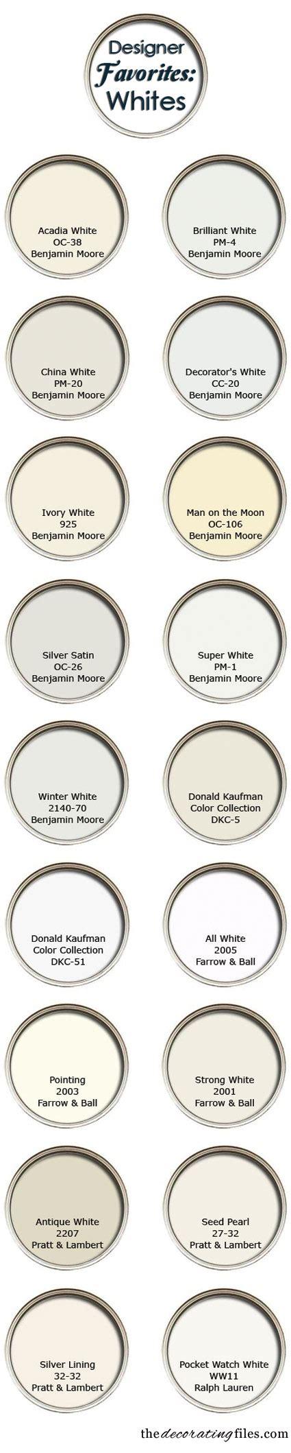 paint colors decorators use white paint colors favorite picks from designers