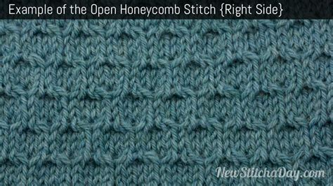 honeycomb knit stitch the open honeycomb stitch knitting stitch 232 new