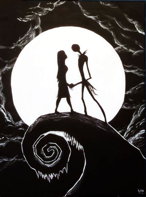 paint nite brton nightmare before painting by corpse boy on