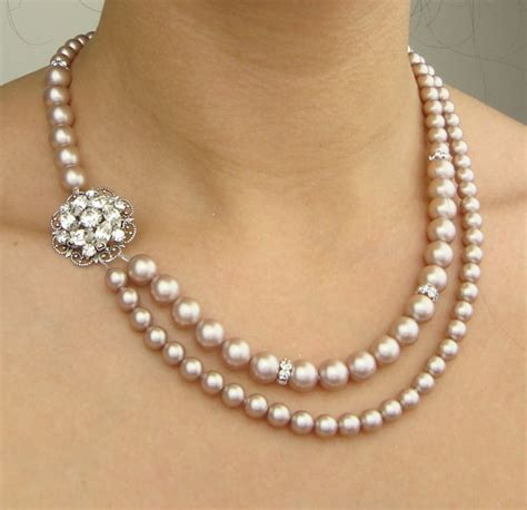 pearl for jewelry chagne pearl bridal necklace wedding jewelry chagne