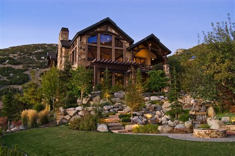 exterior landscaping landscaping with rocks exterior rustic with bbq pit