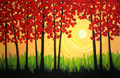 easy acrylic painting ideas trees simple canvas paintings on easy canvas