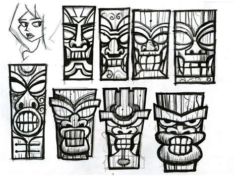 tiki sketch 01 by ecofugal on deviantart