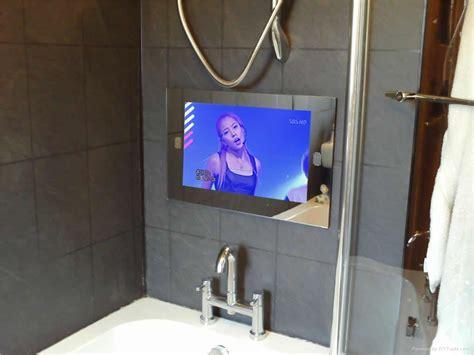 tv in mirror bathroom 8 ways to pimp your bathroom