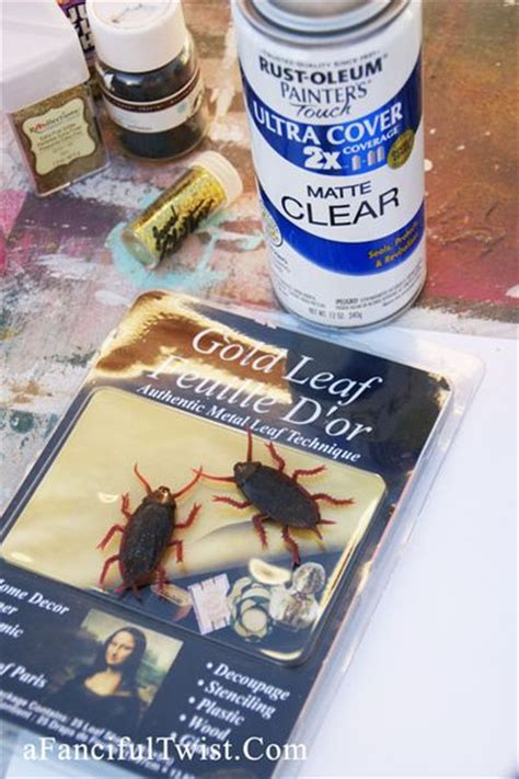 spray paint not sticking a fanciful twist let s make sparkly bug jewelry