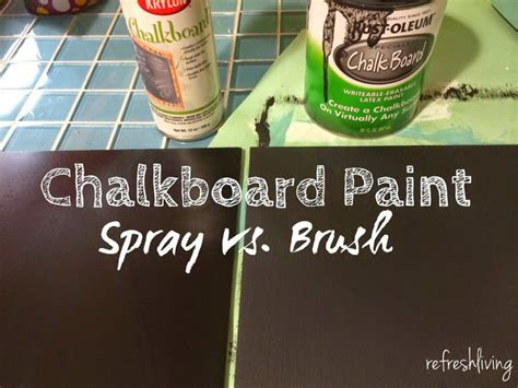 chalkboard paint vs acrylic painting chalkboard paint on glass refresh living