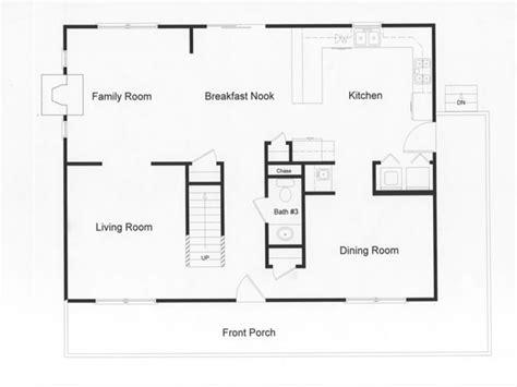 Center Hall Colonial Open Floor Plan log modular home floor plans modular open floor plan large