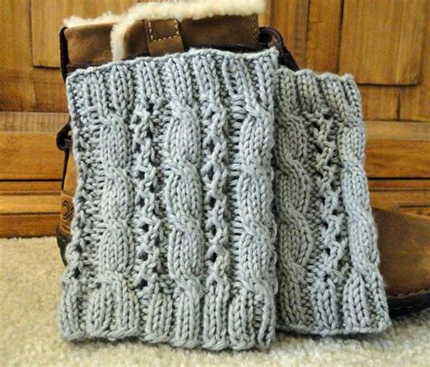 cable knit boot cuffs pattern cable eyelet boot cuffs knitting patterns and crochet