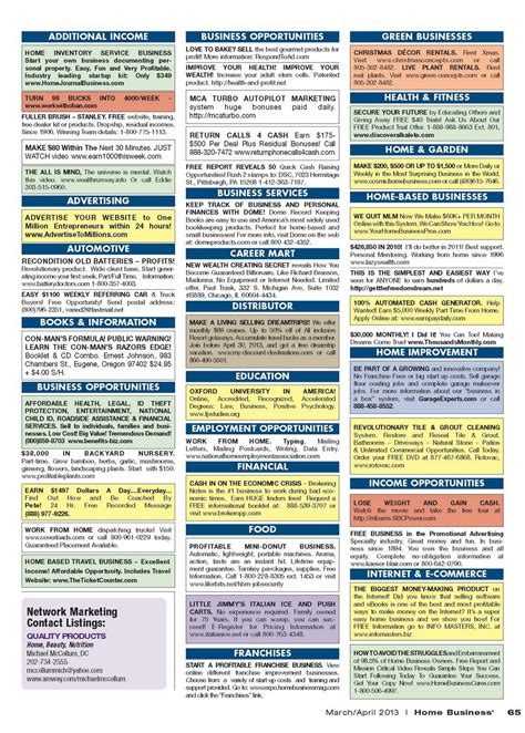 Low Cost Home Building classified advertising home business magazine