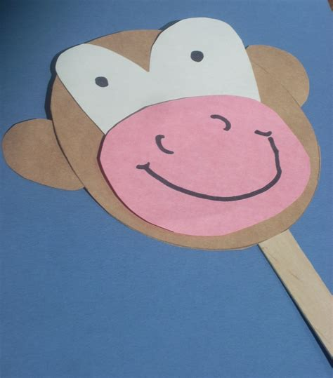 monkey crafts for five monkey puppets