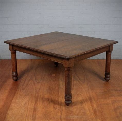 square oak dining table for 8 square oak 8 seat dining table c 1880 254436