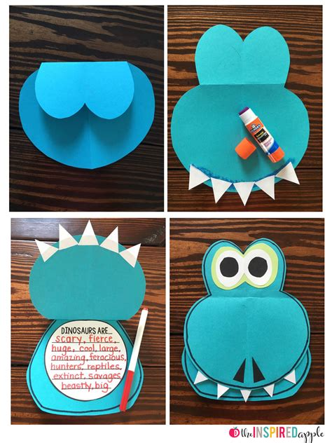 free arts and crafts for free dinosaur craft the inspired apple