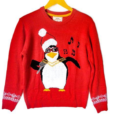 tacky sweater penguin karaoke tacky sweater the