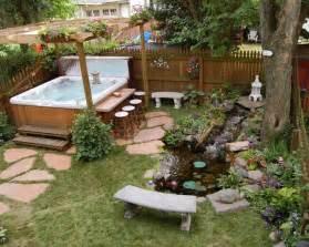 tub backyard ideas 67 cool backyard pond design ideas digsdigs