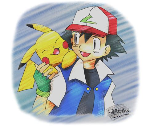 ash and pikachu ash and pikachu by intaresting on deviantart