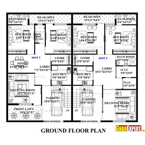 50 sq yard home design house plan for 60 by 50 plot plot size 333