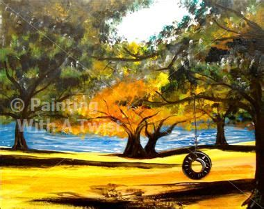 paint with a twist mesquite fall day at the lake mesquite tx painting class