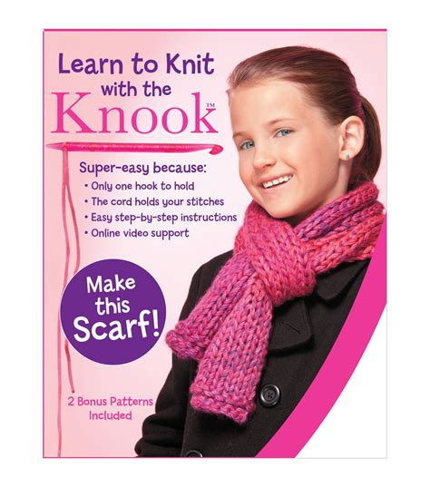 learn how to knit a scarf learn to knit scarf kit jo