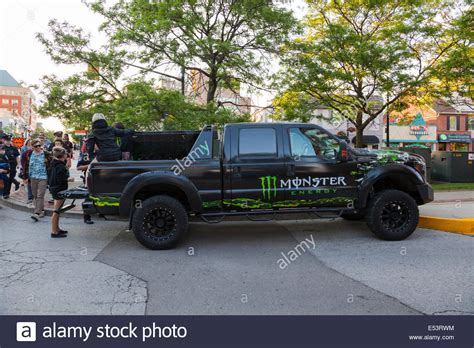 Monster Energy Sticker Truck by A Monster Energy Truck At The Sound Of Music Festival At