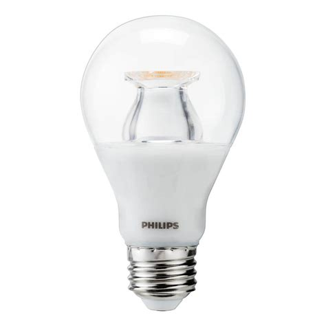 warm glow led lights philips 60w equivalent soft white clear a19 led warm glow